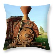 Prairie Train Throw Pillow
