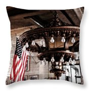 Pratt University Steam Plant Throw Pillow