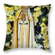 Pray For Us Throw Pillow