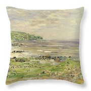 Preaching Of St. Columba Iona Inner Hebridies Throw Pillow by William McTaggart