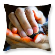 Precious Life Throw Pillow by Syed Aqueel