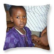 Precious Nigerian Boy Throw Pillow
