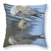 Preening My Feathers Throw Pillow