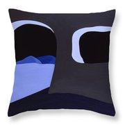 Prehistoric Nocturne Throw Pillow