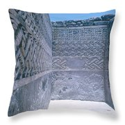 Prehistoric Ruins Of Mitla Throw Pillow