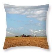 Prepairing The Land Throw Pillow