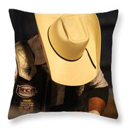 Preparation For The Ride Throw Pillow