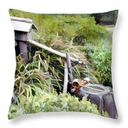 Preparation For The Tea Ceremony Throw Pillow