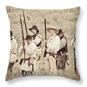 Preparing For Battle Throw Pillow