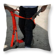 Preparing To Fit The Harness Throw Pillow