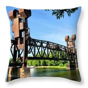 Prescott Lift Bridge Throw Pillow by Kristin Elmquist