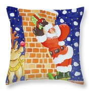 Present From Santa Throw Pillow by Tony Todd