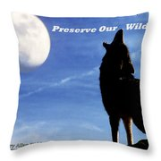 Preserve Our Wildlife Throw Pillow