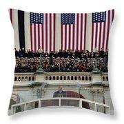 President George W. Bush Makes Throw Pillow by Stocktrek Images