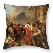 President Mole Manhandled By Insurgents Throw Pillow