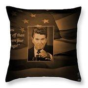 President Reagan Throw Pillow
