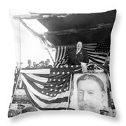 President Taft Giving A Speech In Augusta - Georgia C 1910 Throw Pillow