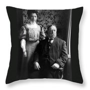 President William Howard Taft With Daughter Throw Pillow by International  Images
