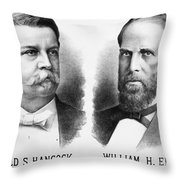 Presidentail Campaign, 1880 Throw Pillow