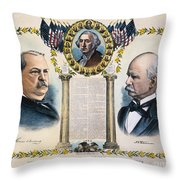 Presidential Campaign, 1892 Throw Pillow