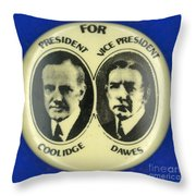 Presidential Campaign, 1924 Throw Pillow