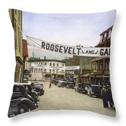 Presidential Campaign, 1936 Throw Pillow by Granger