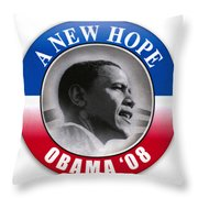 Presidential Campaign, 2008 Throw Pillow
