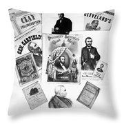 Presidential Campaigns Throw Pillow