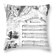 Presidents Hymn, 1863 Throw Pillow