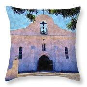 Presido Chapel San Elizario Texas Throw Pillow