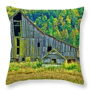 Prest Road Barn Hdr Throw Pillow