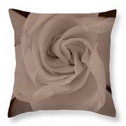 Pretty Flower Sepia Throw Pillow