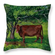 Pretty In Green Throw Pillow