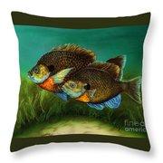 Pretty Little Panfish Throw Pillow