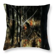 Pretty Little Red Things Throw Pillow