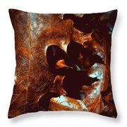 Pretty Oak Leaves Throw Pillow