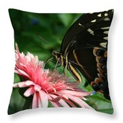 Pretty On Pink Throw Pillow