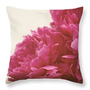 Pretty Pink Peonies Throw Pillow by Kim Fearheiley