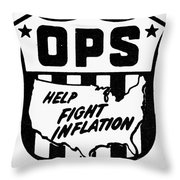 Price Stabilization Throw Pillow