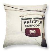 Price's Seafood Throw Pillow
