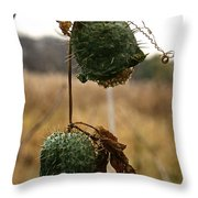 Prickly Bells Throw Pillow