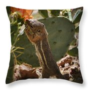 Prickly Lunch  Throw Pillow