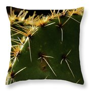 Prickly Pear Dangerous Beauty - Greeting Card Throw Pillow