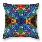 Primary Abstract I Design Throw Pillow