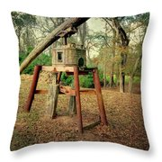 Primitive Sugar Cane Mill Throw Pillow by Tamyra Ayles