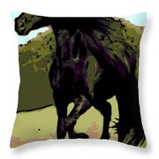 Prince Of Equus Throw Pillow