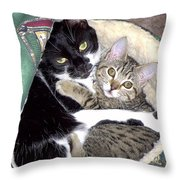 Princess And Little Rocky Throw Pillow