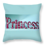 Princess Throw Pillow by Cynthia Amaral