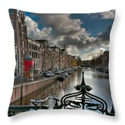 Prinsengracht And Leidsestraat. Amsterdam Throw Pillow