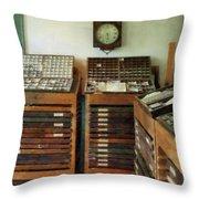 Print Shop Throw Pillow